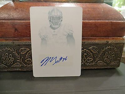 National Treasures Printing Plate Autograph 49Ers Seahawks Nick Moody 1 1  2013