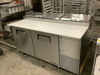 True Tpp-67 67 Inch Refrigerated Pizza Prep Table