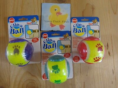 Ethical Products Tennis Ball - CLIP A BALL DOG TOY Tennis Ball with Belt Clip Spot Ethical ONE YOU PICK COLOR