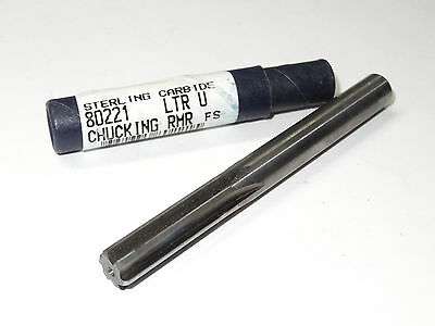 New Sterling Letter U Carbide Chucking Reamer Straight Shank 6 Flutes 6fl Usa