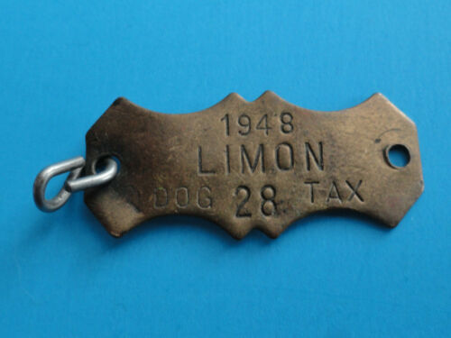 VINTAGE 1948 DOG TAX DOG TAG #28 - LIMON, COLORADO