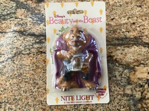 VINTAGE DISNEY BEAUTY AND THE BEAST NIGHT LIGHT - BEAST w/Lantern MIP