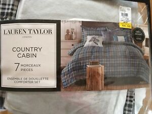 New Lauren Taylor Country Cabin king size bed set (NO comforter)
