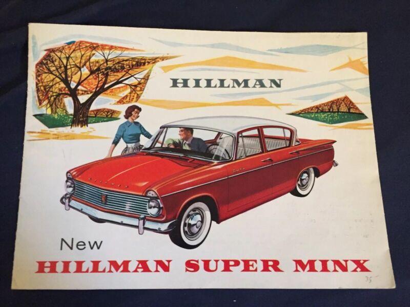 1960s Rootes Hillman Super Minx Sales Brochure  Prospekt