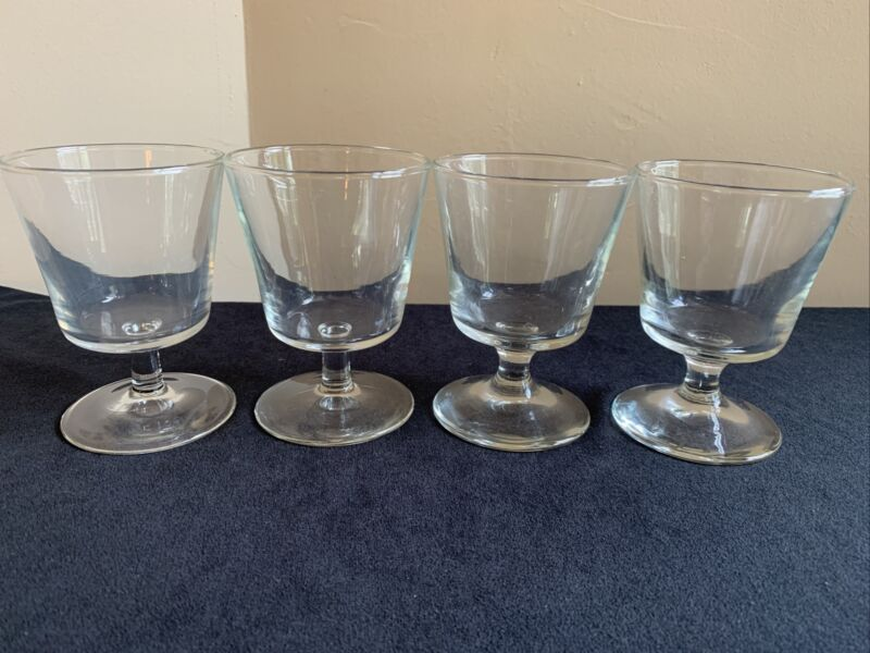 SET OF 4 Vintage 6-ounce Footed Parfait or Old Fashioned Cocktail Glasses