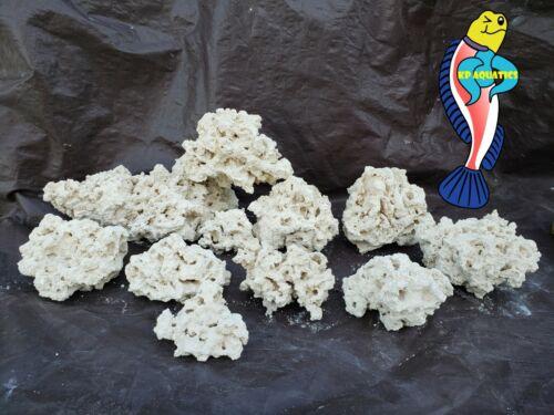 25 lbs of Dry Aragonite Porous Reef Rock for Aquariums, Live Rock