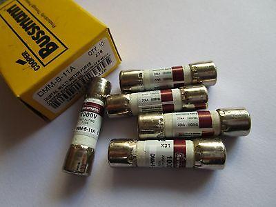 20 Pcs Buss 1000v Dmm-b-11a 11a Ceramic Fuse Amp For Fluke Digital Mulitmeter
