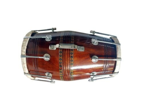 BROWN DHOLAK 17 To 19 BOLT TUNED SHEESHAM WOOD YOGA KIRTAN RDS330