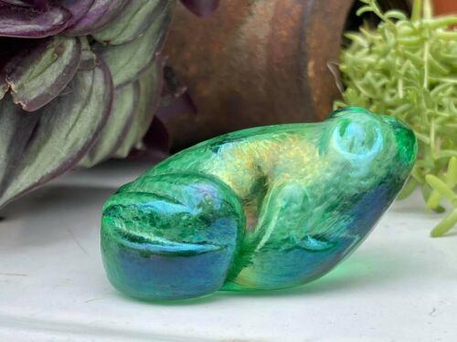 Robert Held Iridescent Frog Paperweight