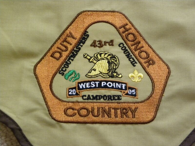 VINTAGE WEST POINT SCOUTS NECKERCHIEF 43rd USMA CAMPOREE Never Used 2005
