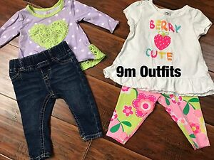 6,9,12 m girls clothing lots