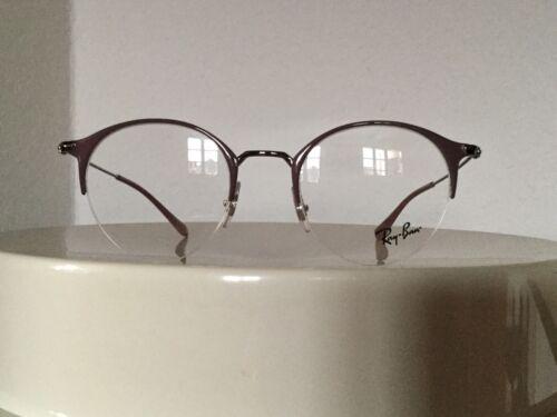 Ray Ban Brillenfassung Brille Gestell RB 3578V 2907 48-22 Rund Nude Silber Neu