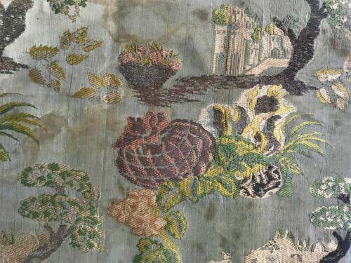 Antique Silk & Metallic Brocade Fabric 19th Century French