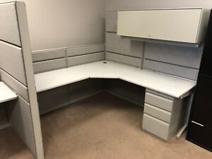 Office managers desk unit and cubicle