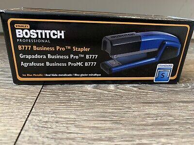 Rare Stanley Bostitch B777 Business Pro Stapler Ice Blue Metallic Brand New