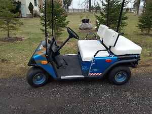EZGO electric golf cart and charger