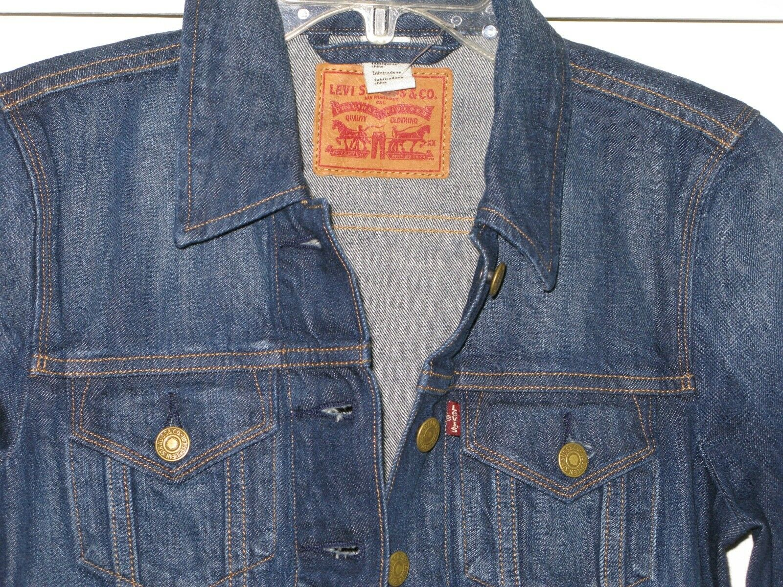 Levi's Trucker Denim Jacket women's XS Icon New