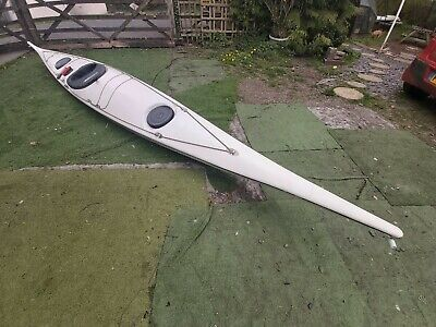 Sea King Fibreglass Kayak 17 Foot With Hatch Covers, Spray Deck Paddle