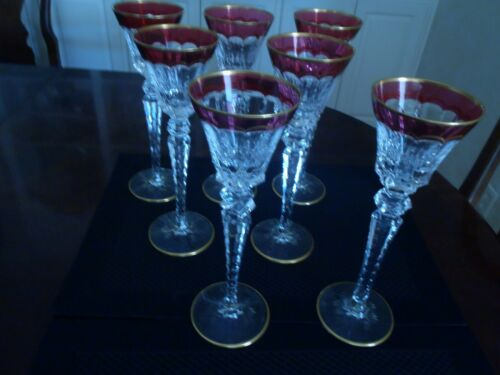 "ST LOUIS  CRYSTAL EXCELLENCE RED HOCK WINES 10 1/4"" (7 AVAILABLE)"