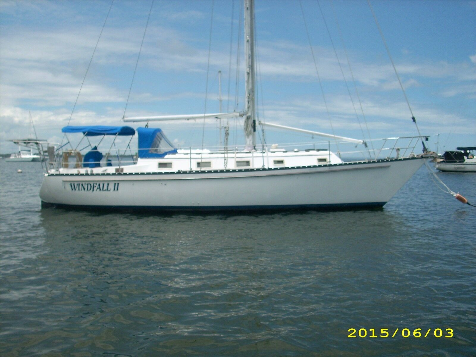1979 37' Hunter Cherubini sailboat