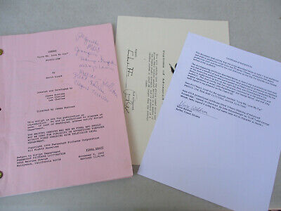 Cheers Television Sitcom Script Finals Draft Signed Cliff George Wendt COA 1992
