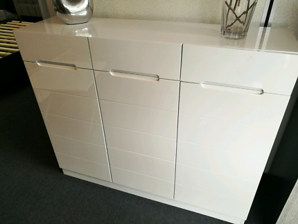 High Gloss White Shoes Cabinet Part 56