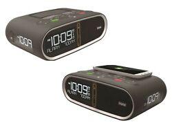 iHome Triple Display Bluetooth Alarm Clock NFC Wireless Dual USB Charging QI/PMA