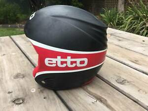 Ski Helmet Etto Size M / Size 58 (Black and Red)