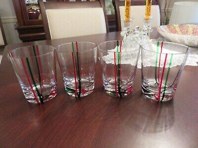4 Hand Made Art Glass 4 1/4