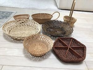 7 baskets, various sizes