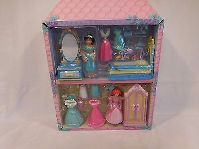 Disney Polly Pocket princess play sets -- Jasmine plus Ariel vintage rare (Princess Play Sets)
