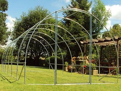 Shipped 1/5  Frame Only 6m x 3m Poly Tunnel Polytunnel Greenhouse Green House