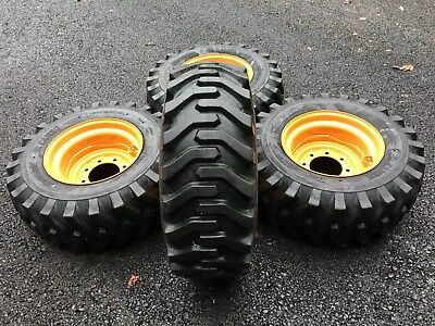 4 New 12x16.5 Tires Rims For Case 1845 1845c Xt 400 Series - 12-16.5
