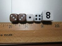 15mm Cubes for Backgammon or Teaching Black Doubling Dice Pack of 100