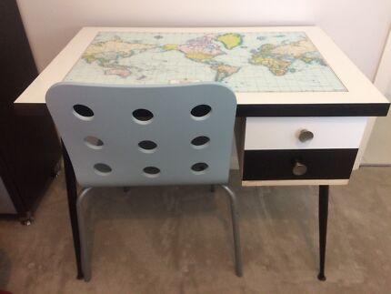 Map desk in sydney region nsw desks gumtree australia free retro world map desk with ikea chair gumiabroncs Choice Image