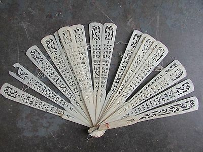 ANTIQUE PIERCED CARVED CHINESE FAN