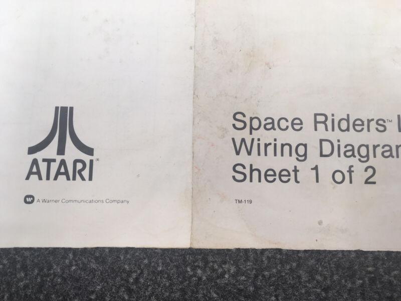 Atari Space Riders Pinball Machine Manual Schematics