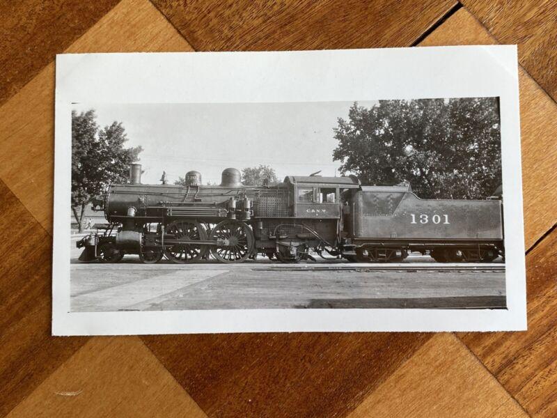 Chicago North Western Railroad Locomotive 1301 Vintage Photo C&NW