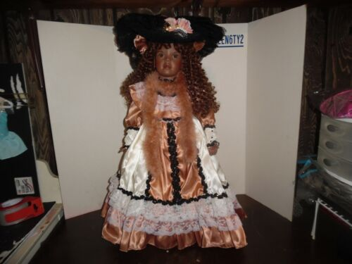 "designers guild collection porcelain 24"" doll christel by susan aiken"