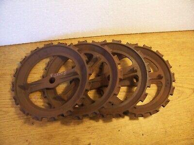 1 Vintage Cast Iron Jd Planter Plate Y5104b Lot N7