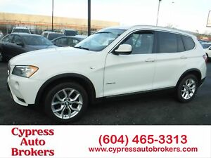 2012 BMW X3 xDrive28i (Nav, Leather & Sunroof)