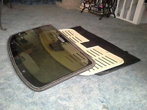Ford Foxbody complete removable sunroof with leather pouch.