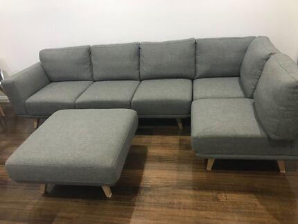 Beau Focus On Furniture Enterprise 5 Seat Corner With Ottoman