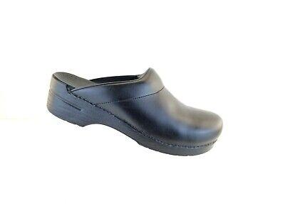 Dansko Mens Karl Black  Leather Slip On Clogs Shoes Sz 46 EU 12.5-13 US Dansko Mens Clogs