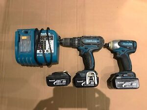 Makita drill set with 3 batteries