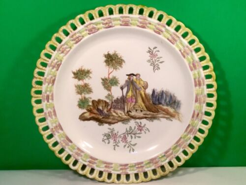 Antique French Faience Hand Painted Wall Plate c.1830