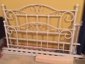 White Wrought Iron Bed Frame with Slats Murrumba Downs Pine Rivers Area Preview
