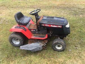 """Lawn tractor 13 hp 38"""" cut. Runs drives cuts. $400."""