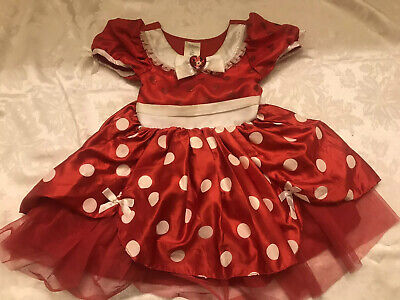 Minnie Mouse Costume For Girls (Disney Store Minnie Mouse Costume for Girls Red Size 4 Pls)