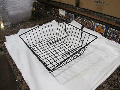 Uline Slatwall Black Wire Basket Metal Gridwall 12x12x4 6 Count S-18618bl